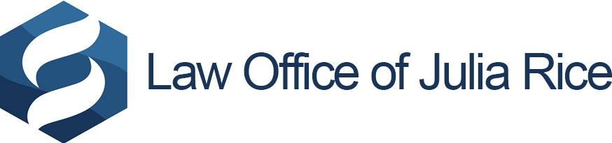 Logo:   Law Office of Julia Rice
